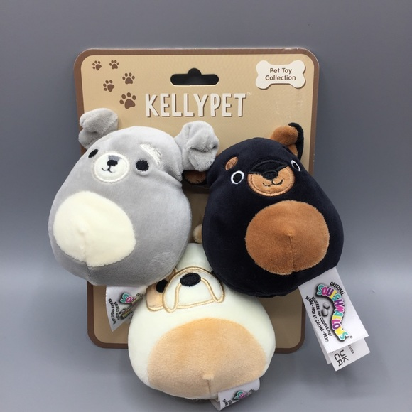 Squishmallows Kellypet Puppy Set Pet Toy Set of 3